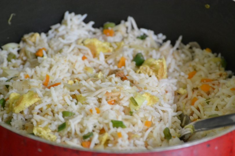 chicken fried rice, Linuskitchen, Linu Freddy