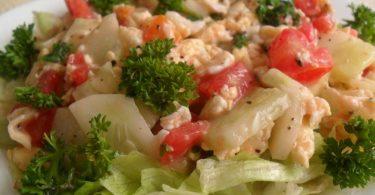 Tomato and Egg Salad, Linu Freddy, Linuskitchen