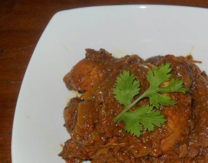 Chicken Vindaloo, Linu Freddy, Linuskitchen