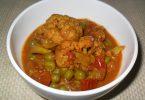 Cauliflower Green Peas Curry, Linuskitchen, Linu Freddy