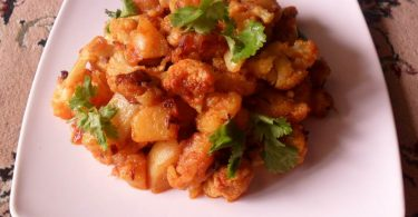 Potato Cauliflower Stir Fry, Linuskitchen, Linu Freddy
