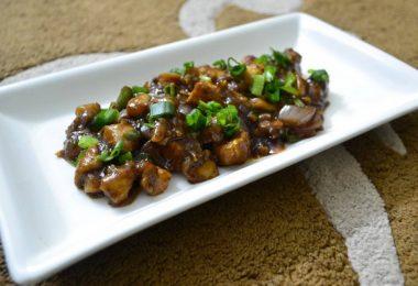Mushroom Baby Corn Manchurian, Linu Freddy, Linuskitchen.com