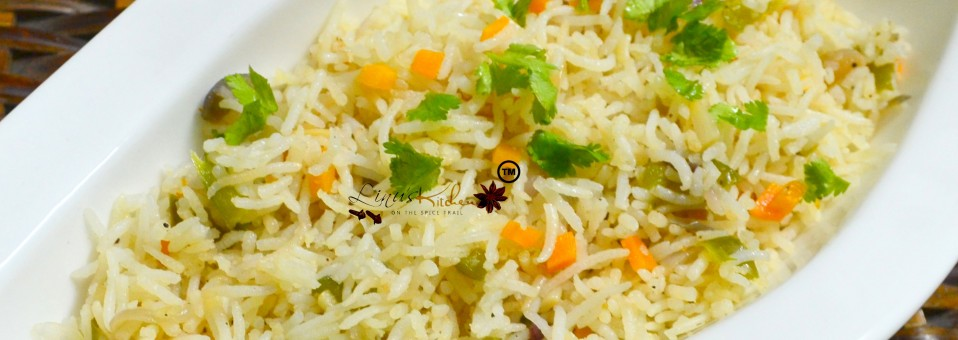 Capsicum and Carrot Rice