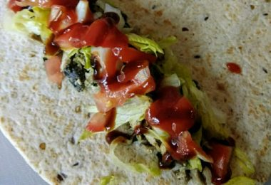Roast Chicken Wrap, Linuskitchen.com, Linu Freddy